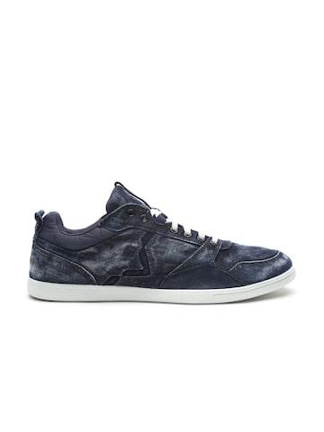 DIESEL Men Blue Denim Sneakers DIESEL Casual Shoes at myntra