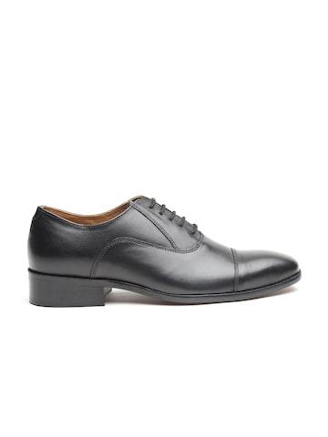Carlton London Men Black Leather Formal Oxfords Carlton London Formal Shoes at myntra