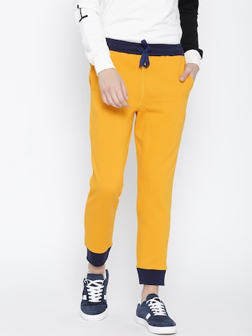 United Colors of Benetton Yellow Joggers United Colors of Benetton Track Pants at myntra