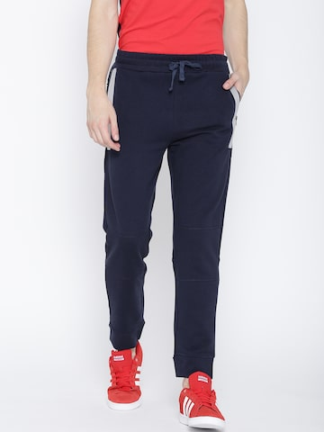 United Colors of Benetton Navy Track Pants United Colors of Benetton Track Pants at myntra