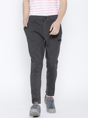 United Colors of Benetton Charcoal Grey Track Pants United Colors of Benetton Track Pants at myntra
