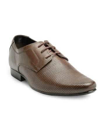 Franco Leone Men Brown Formal Derby Shoes Franco Leone Formal Shoes at myntra