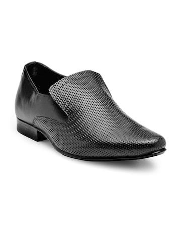 Franco Leone Men Black Formal Slip-Ons Franco Leone Formal Shoes at myntra