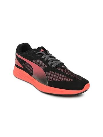Puma Women Black Ignite Mesh Running Shoes Puma Sports Shoes at myntra