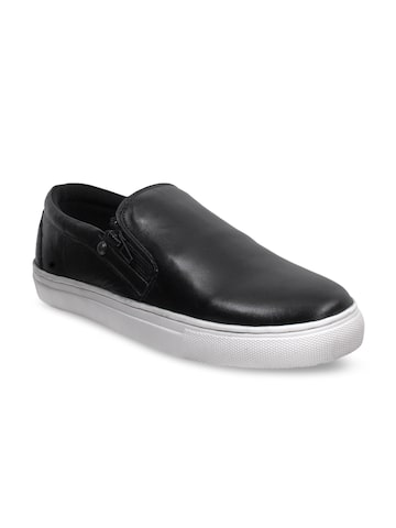 Numero Uno Men Black Slip-On Sneakers Numero Uno Casual Shoes at myntra