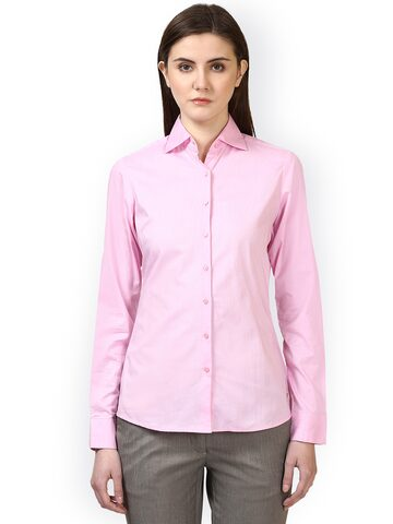 Park Avenue Women Red Regular Fit Solid Casual Shirt Park Avenue Shirts at myntra