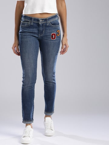 Levis Women Blue Skinny Fit Mid-Rise Clean Look Stretchable Jeans Levis Jeans at myntra
