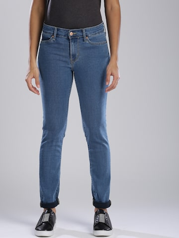 Levis Women Blue Skinny Fit Mid-Rise Clean Look Jeans Levis Jeans at myntra