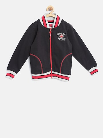 612 Ivy League Boys Black Solid Sweatshirt 612 Ivy League Sweatshirts at myntra