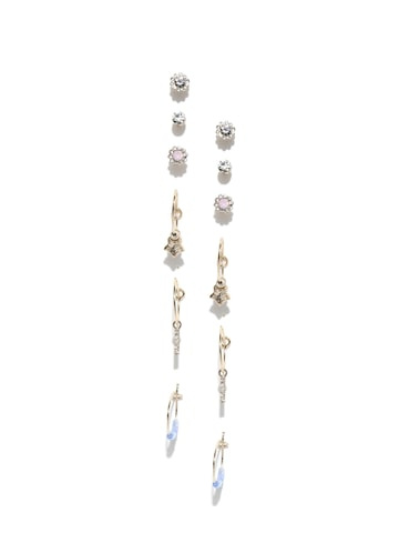 Accessorize Set of 8 Earrings Accessorize Earrings at myntra