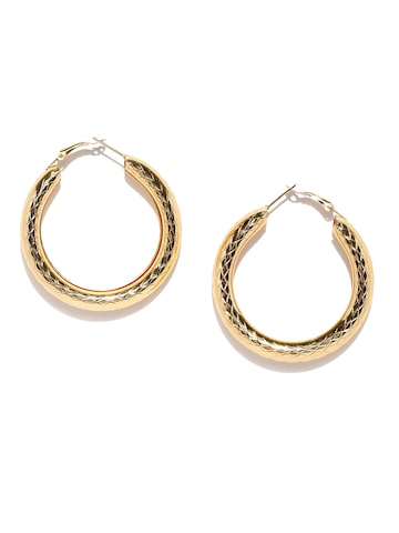 DressBerry Gold-Toned Circular Hoop Earrings DressBerry Earrings at myntra