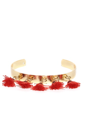 DressBerry Gold-Toned Cuff Bracelet DressBerry Bracelet at myntra