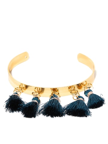 DressBerry Gold-Toned & Blue Metal Cuff Bracelet DressBerry Bracelet at myntra