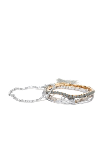DressBerry Set of 3 Elasticated Bracelets DressBerry Bracelet at myntra