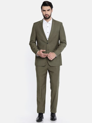 Raymond Brown Single-Breasted Contemporary Fit Suit Raymond Suits at myntra