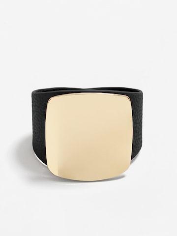 MANGO Black & Gold-Toned Metal Contemporary Bracelet MANGO Bracelet at myntra