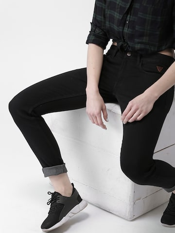 Harvard Women Black Skinny Fit Mid-Rise Clean Look Stretchable Jeans Harvard Jeans at myntra