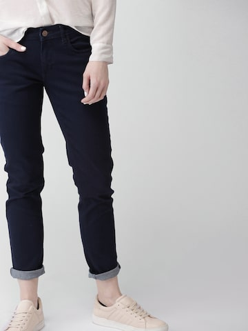 Harvard Women Blue Skinny Fit Mid-Rise Clean Look Stretchable Jeans Harvard Jeans at myntra