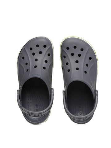 Crocs Unisex Grey Bayaband Solid Clogs Crocs Flip Flops at myntra