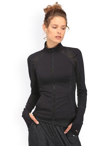 Puma Women Black PWRSHAPE Sporty Jacket Puma Jackets at myntra