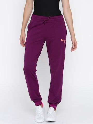 Puma Women Purple URBAN SPORTS Sweat Joggers Puma Track Pants at myntra