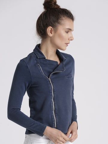 Chemistry Women Blue Solid Tailored Jacket Chemistry Jackets at myntra