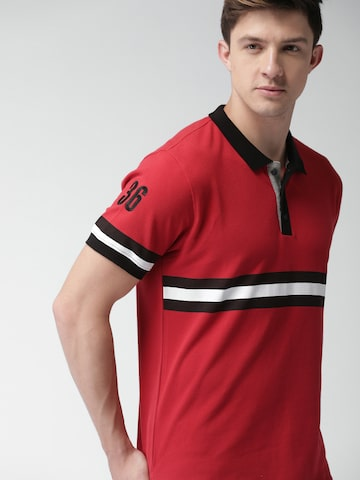 Harvard Men Red Solid Polo T-shirt Harvard Tshirts at myntra