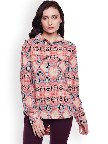 Oxolloxo Women Multicoloured Comfort Regular Fit Printed Casual Shirt Oxolloxo Shirts at myntra