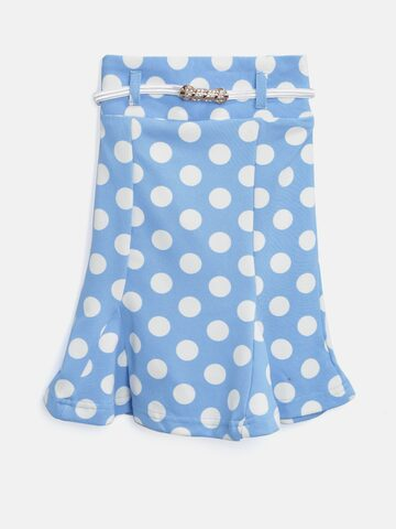 Tiny Girl Blue Polka Dot Print Trumpet Skirt Tiny Girl Skirts at myntra
