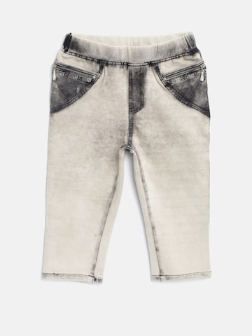Tiny Girl Beige Washed Treggings Tiny Girl Jeggings at myntra