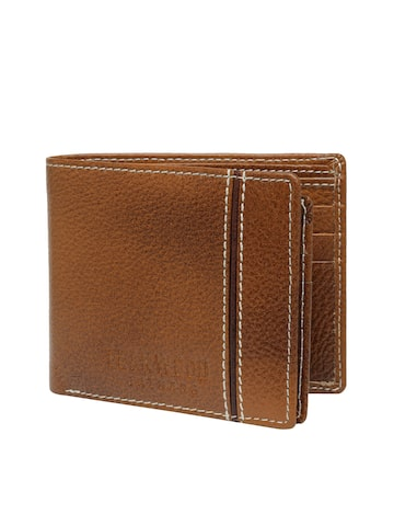 Teakwood Leathers Men Brown Solid Two Fold Wallet Teakwood Leathers Wallets at myntra