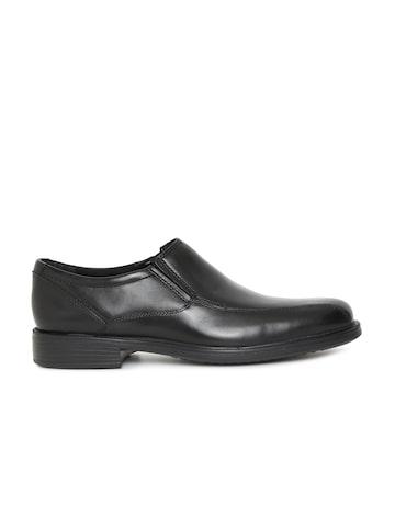 Clarks Men Black Leather Bardwell Step Formal Slip-Ons Clarks Formal Shoes at myntra
