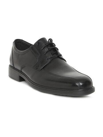 Clarks Men Black Leather Formal Bardwell Walk Derby Shoes Clarks Formal Shoes at myntra