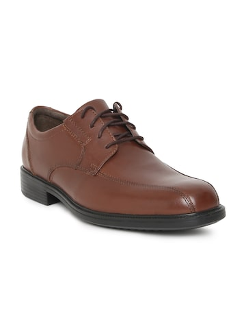 Clarks Men Brown Leather Formal Bardwell Walk Derby Shoes Clarks Formal Shoes at myntra