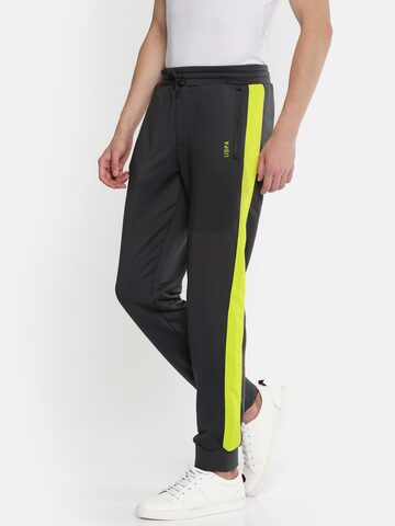 U.S. Polo Assn. Grey Joggers U.S. Polo Assn. Track Pants at myntra