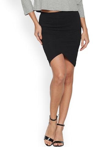 Globus Black A-Line Skirt Globus Skirts at myntra