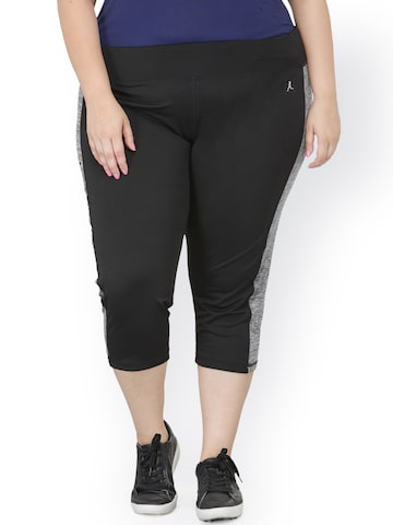 plusS Black Capris plusS Capris at myntra