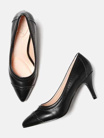 DressBerry Women Black Solid Pumps DressBerry Heels at myntra