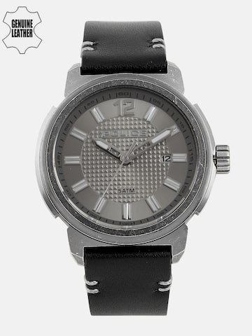 Police Men Gunmetal-Toned Analogue Watch PL14797JSQ61 Police Watches at myntra