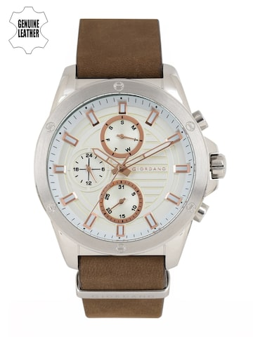 GIORDANO Men Off-White Analogue Watch 1885-01 GIORDANO Watches at myntra