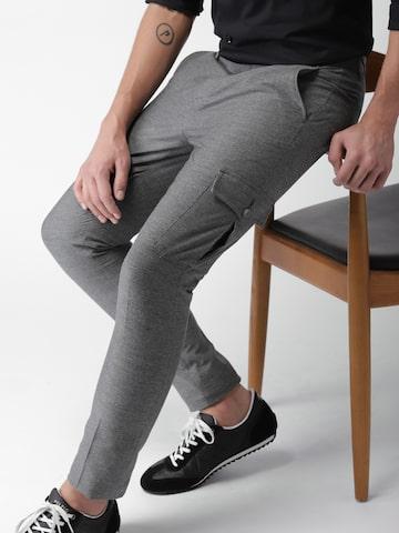 INVICTUS Men Black & White Regular Fit Self Design Formal Trousers INVICTUS Trousers at myntra