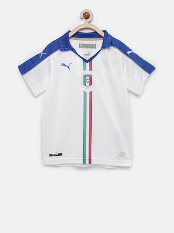 Puma Boys White FIGC Italia Self Design T-shirt Puma Tshirts at myntra