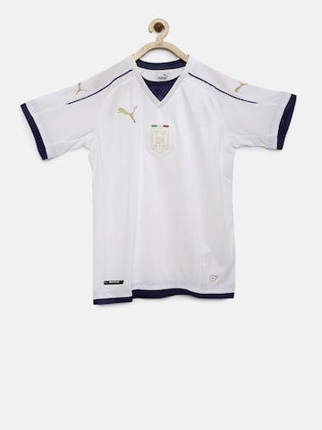 Puma Boys White Solid V-Neck FIGC Italia T-shirt Puma Tshirts at myntra