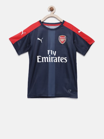Puma Boys Navy & Red Printed DryCell AFC Stadium Jersey T-shirt Puma Tshirts at myntra