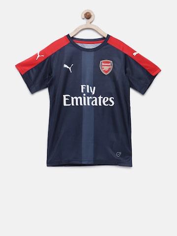 Puma Boys Navy & Red Printed DryCell AFC Stadium Jersey T-shirt Puma Tshirts at myntra