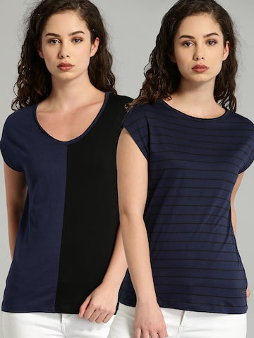 Roadster Women Pack of 2 T-shirts Roadster Tshirts at myntra