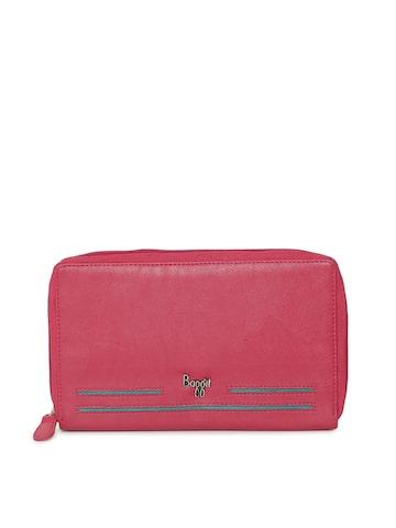 Baggit Women Pink Solid Zip Around Wallet Baggit Wallets at myntra