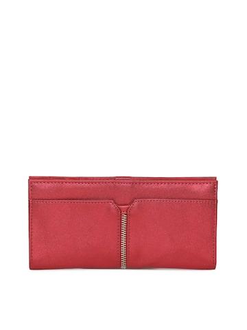 Baggit Women Red Solid Two Fold Wallet Baggit Wallets at myntra