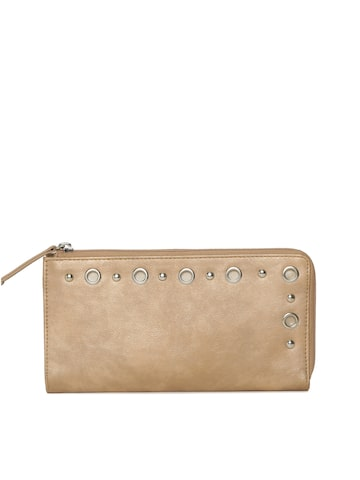 Baggit Women Gold-Toned Zip Around Wallet Baggit Wallets at myntra