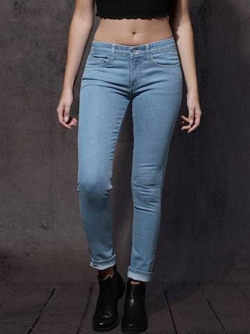 Roadster Women Blue Skinny Fit Mid-Rise Clean Look Stretchable Jeans Roadster Jeans at myntra